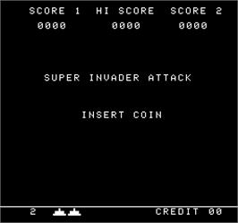 Title screen of Super Invader Attack on the Arcade.