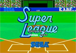 Title screen of Super League on the Arcade.