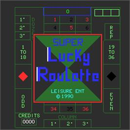 Title screen of Super Lucky Roulette on the Arcade.