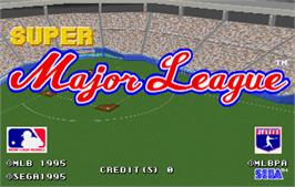 Title screen of Super Major League on the Arcade.