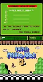 Title screen of Super Mario Bros. 3 on the Arcade.