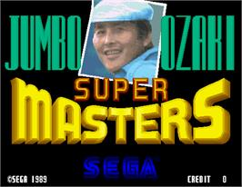 Title screen of Super Masters Golf on the Arcade.