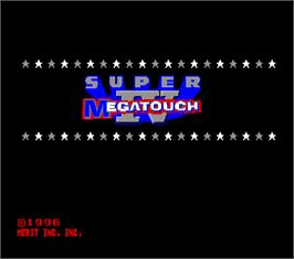 Title screen of Super Megatouch IV on the Arcade.