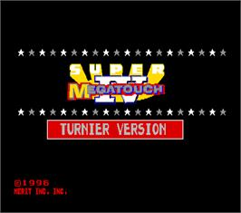 Title screen of Super Megatouch IV Turnier Version on the Arcade.
