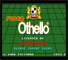 Title screen of Super Othello on the Arcade.