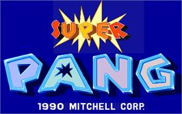 Title screen of Super Pang on the Arcade.