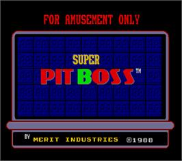 Title screen of Super Pit Boss on the Arcade.