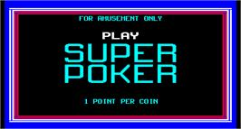 Title screen of Super Poker on the Arcade.
