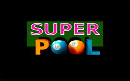 Title screen of Super Pool on the Arcade.