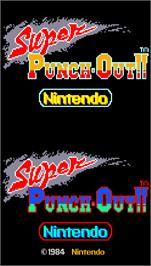 Title screen of Super Punch-Out!! on the Arcade.