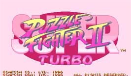 Title screen of Super Puzzle Fighter II Turbo on the Arcade.
