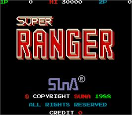 Title screen of Super Ranger on the Arcade.