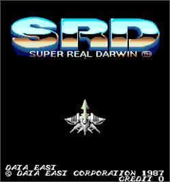Title screen of Super Real Darwin on the Arcade.