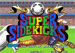 Title screen of Super Sidekicks / Tokuten Ou on the Arcade.