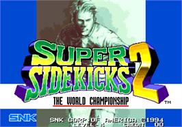 Title screen of Super Sidekicks 2 - The World Championship / Tokuten Ou 2 - real fight football on the Arcade.