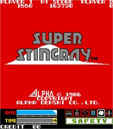 Title screen of Super Stingray on the Arcade.