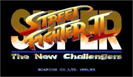 Title screen of Super Street Fighter II: The New Challengers on the Arcade.