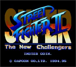 Title screen of Super Street Fighter II - The New Challengers on the Arcade.