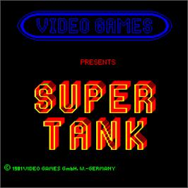 Title screen of Super Tank on the Arcade.