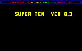 Title screen of Super Ten V8.3X on the Arcade.