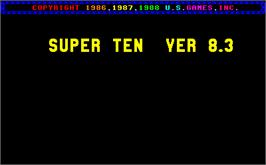 Title screen of Super Ten V8.3 on the Arcade.