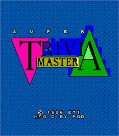 Title screen of Super Trivia Master on the Arcade.