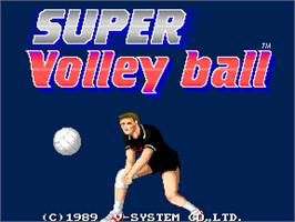 Title screen of Super Volleyball on the Arcade.