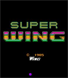 Title screen of Super Wing on the Arcade.
