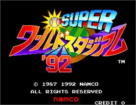 Title screen of Super World Stadium '92 on the Arcade.