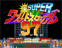 Title screen of Super World Stadium '97 on the Arcade.