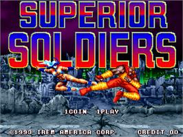 Title screen of Superior Soldiers on the Arcade.