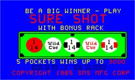 Title screen of Sure Shot on the Arcade.