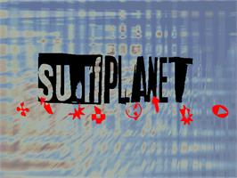 Title screen of Surf Planet on the Arcade.