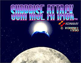 Title screen of Surprise Attack on the Arcade.