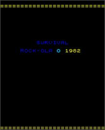 Title screen of Survival on the Arcade.