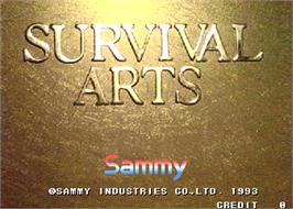 Title screen of Survival Arts on the Arcade.