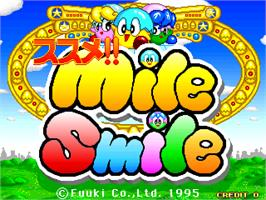 Title screen of Susume! Mile Smile on the Arcade.