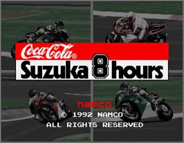 Title screen of Suzuka 8 Hours on the Arcade.
