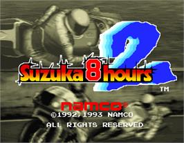 Title screen of Suzuka 8 Hours 2 on the Arcade.