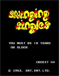 Title screen of Swinging Singles on the Arcade.