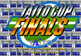 Title screen of Taito Cup Finals on the Arcade.