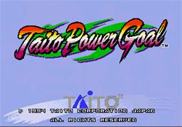 Title screen of Taito Power Goal on the Arcade.
