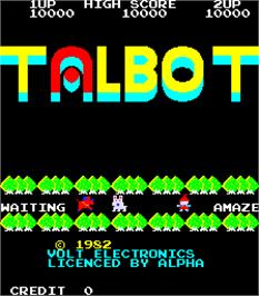 Title screen of Talbot on the Arcade.
