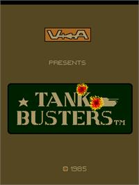 Title screen of Tank Busters on the Arcade.