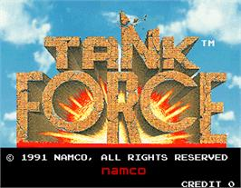 Title screen of Tank Force on the Arcade.