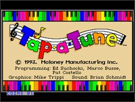 Title screen of Tap-a-Tune on the Arcade.