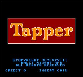 Title screen of Tapper on the Arcade.