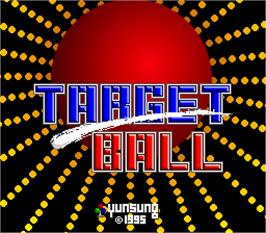 Title screen of Target Ball on the Arcade.