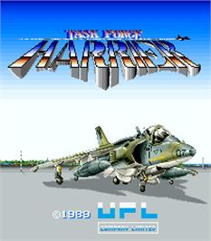 Title screen of Task Force Harrier on the Arcade.