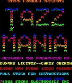 Title screen of Tazz-Mania on the Arcade.